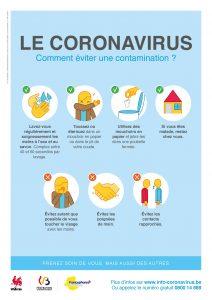 Coronavirus conseils – Comment éviter une contamination.