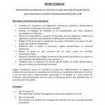Offre d'emploi : UN(E) EMPLOYÉ(E) D'ADMINISTRATION AGENT CONSTATATEUR / EMPLOYÉ D'ADMINISTRATION (H/F) D4 OU D6
