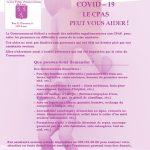 COVID-19 – Le CPAS peut vous aider !